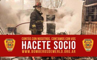 HACETE SOCIO DE LA ASOCIACIÓN DE BOMBEROS VOLUNTARIOS DE MERLO